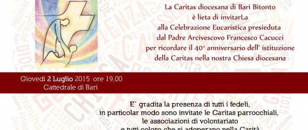 40° Anniversario istituzione Caritas Diocesana