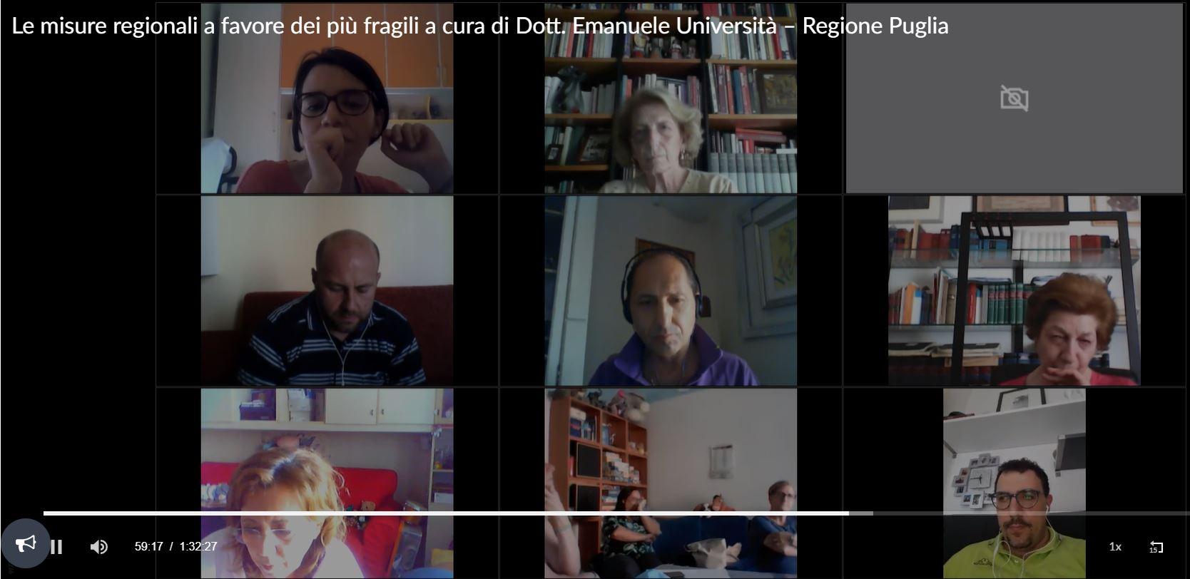 Le misure regionali a favore dei più fragili a cura di Dott. Emanuele Università