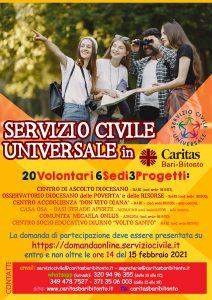 Caritas Diocesana Bari Bitonto - Servizio Civile 2021